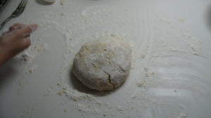 Bring together your dough and place on a lightly floured surface