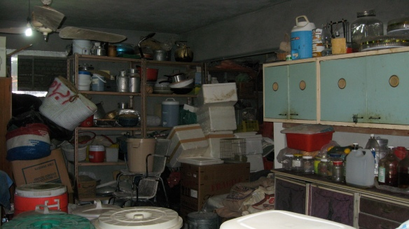 one side of the storage room