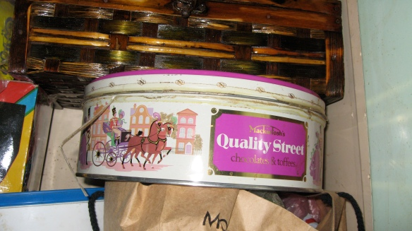 old quality street chocolate box