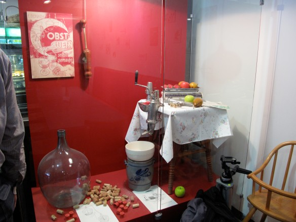 Display at the cafeteria of the Ethnology Museum